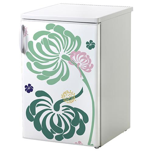 Sticker cuisine fleurs pour petit frigo classique ou lave vaisselle