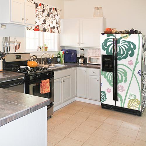 Sticker frigo américain cuisine familiale