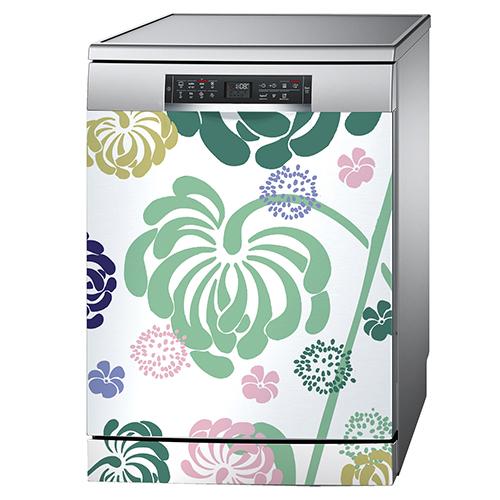 Sticker à fleurs pour lave vaisselle
