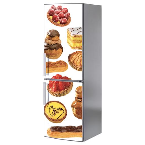 Sticker patisserie pour frigo américain