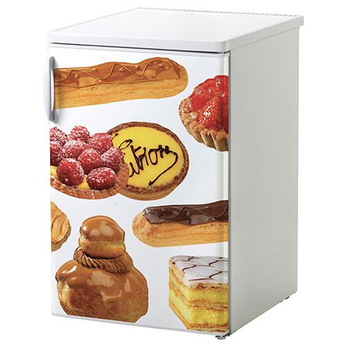 Sticker patisserie pour petit frigo standard