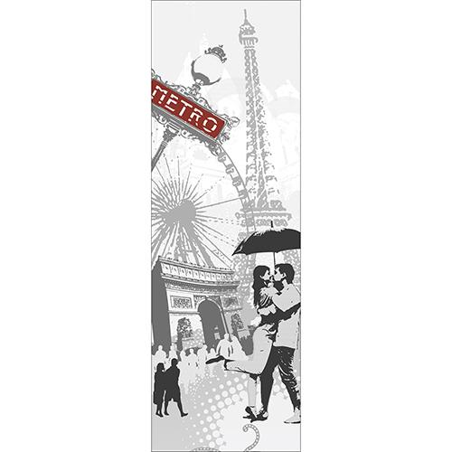 Sticker autocollant pour grand frigo standard Paris