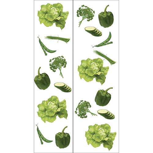Sticker autocollant Légumes du potager pour frigo américain