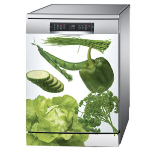 Sticker Légumes du potager posé sur un lave-vaisselle