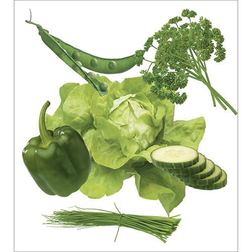 Sticker légumes verts pour décoration électroménager