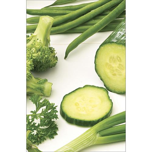 Sticker légumes verts pour déco de lave vaisselle