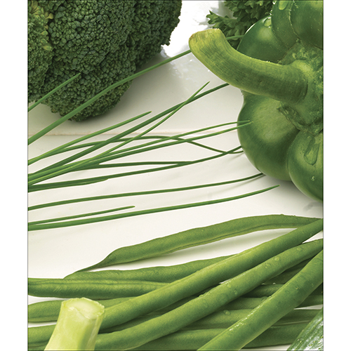 Sticker vert légumes pour décoration d'électroménager