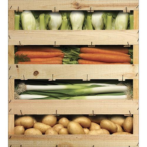 Sticker caisses de légumes pour placard de cuisine