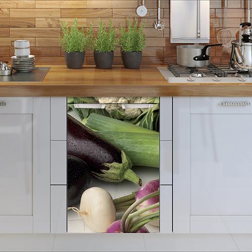 Adhésif tous types de légumes lave vaisselle pour déco de cuisine moderne