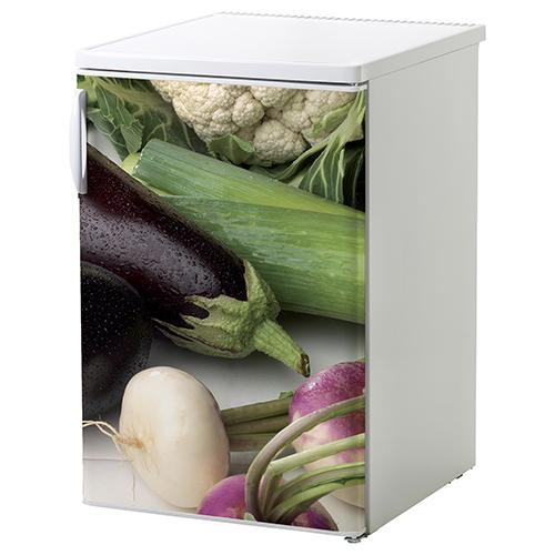 Sticker adhésif décoration frigo blanc choux courgette navet poireau aubergine