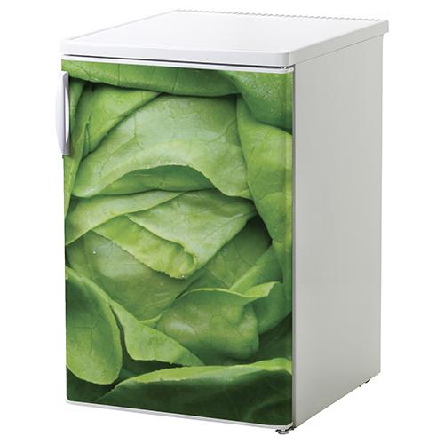 Sticker autocollant déco salade verte pour frigo blanc