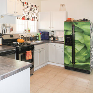 Adhésif décoration de frigo américain noir salade verte pour cuisine