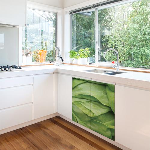 Autocollant décoration meuble de cuisine salade verte