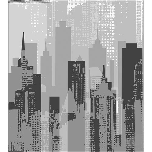 Sticker adhésif new-york gris pour déco de placard haut de cuisine