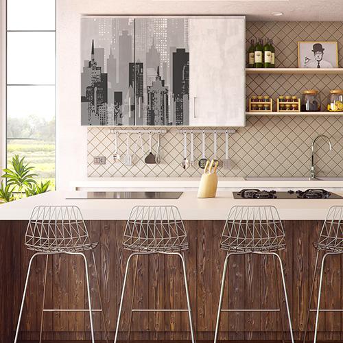 Sticker new-york décoration meubles hauts de cuisine pour cuisine vintage