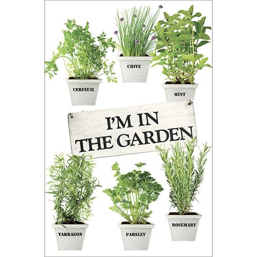 Sticker adhésif plantes aromatiques pour décoration de petit frigo cuisine en bois