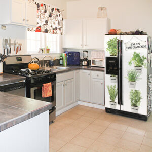 Adhésif herbes aromatiques décoration de frigo américain pour cuisine