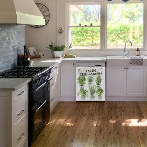Autocollant herbes aromatiques pour déco de lave vaisselle de cuisine moderne