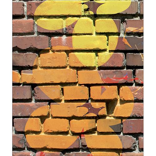 Sticker mur de briques effet street pour déco de lave vaisselle cuisine