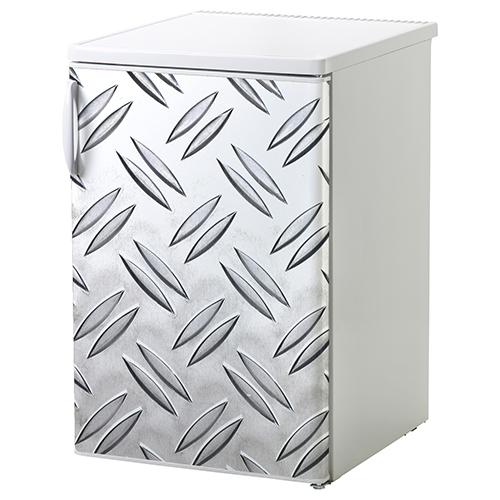 Sticker adhésif décoration petit frigo blanc grain de riz