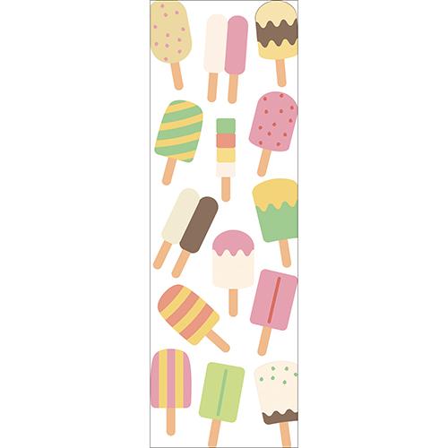 Sticker adhésif glaces pour déco de frigo pour cuisine