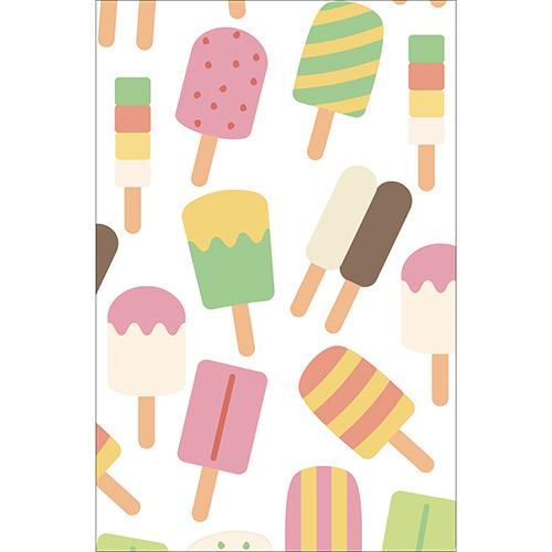 Sticker petit frigo décoration glaces pour cuisine