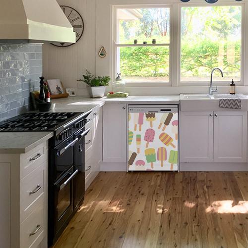 Sticker cuisine lave vaisselle cuisine lumineuse