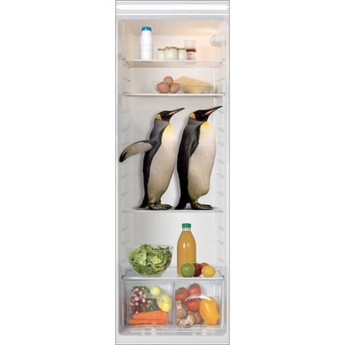 Sticker autocollant intérieur de frigo pinguin pour grand frigo