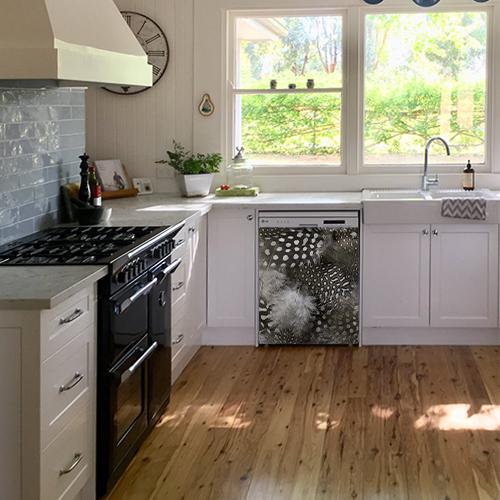 sticker autocollant d coration de cuisine duvet. Black Bedroom Furniture Sets. Home Design Ideas