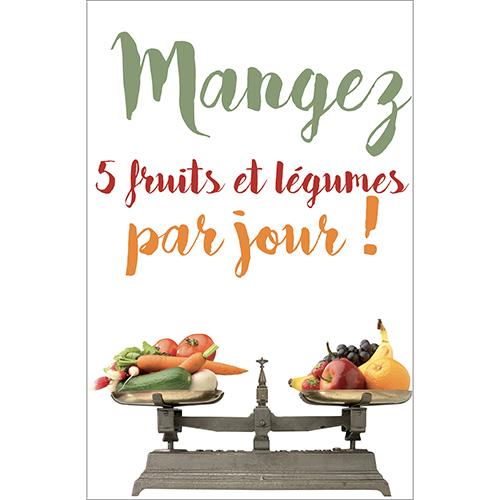 Sticker pour petit frigos modèle 5 fruit et légumes