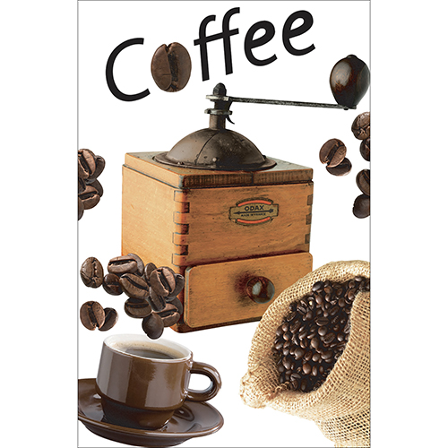 Sticker autocollant décoratif grains de café pour petits frigos