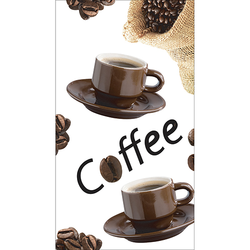 Sticker décoratif pour frigo américain motif grains de café