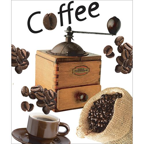 Sticker déco pour lave vaisselle grain de café