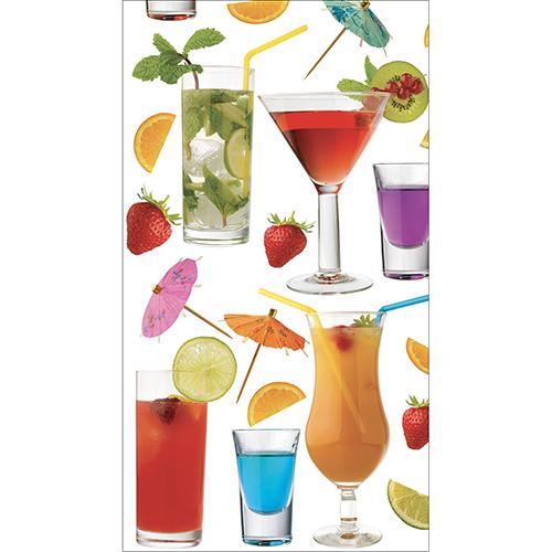 Grand Frigo américain décoré avec un sticker original modèle cocktail