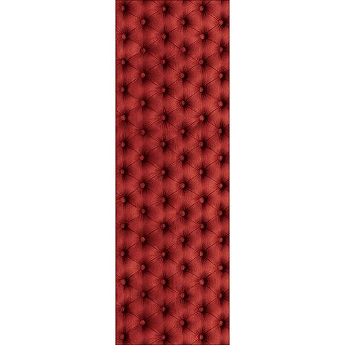 Sticker autocollant pour grand frigo capiton rouge