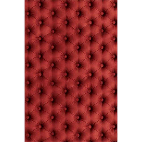 Sticker décoratif pour petit frigo modèle capiton couleur rouge