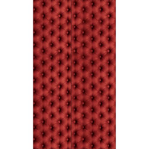 Adhésif décoratif imitation capiton rouge à coller sur un frigo américain