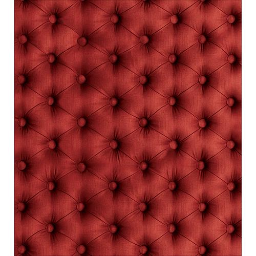 Sticker décoratif pour placard de cuisine modèle capiton rouge