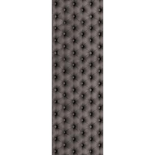 Sticker adhésif autocollant modèle capiton gris pour grand frigo