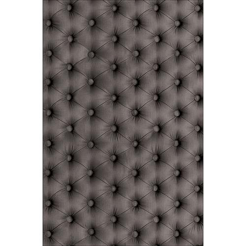 Sticker autocollant décoratif pour petit frigo modèle capiton gris