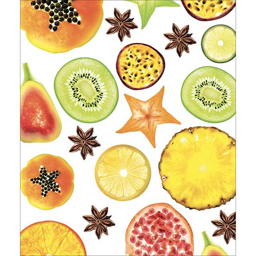 Autocollant décoratif pour meubles de cuisine motif FRUITS EXOTIQUES