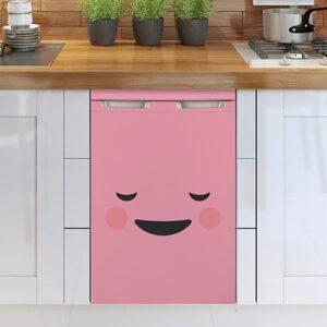 Stickers adhésifs smiley content rose pour lave vaisselle