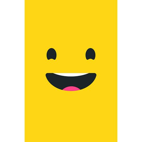 Sticker frigo Smiley Grand Sourire Jaune prêt à coller