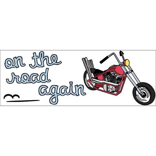 Planche de sticker moto