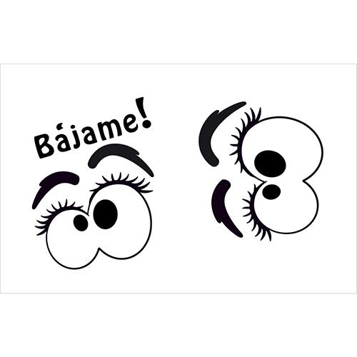 Sticker collant yuex Bajame pour abattant de toilettes
