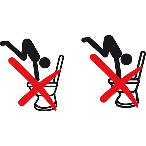 Sticker autocollant décoratif interdiction de plonger dans les toilettes
