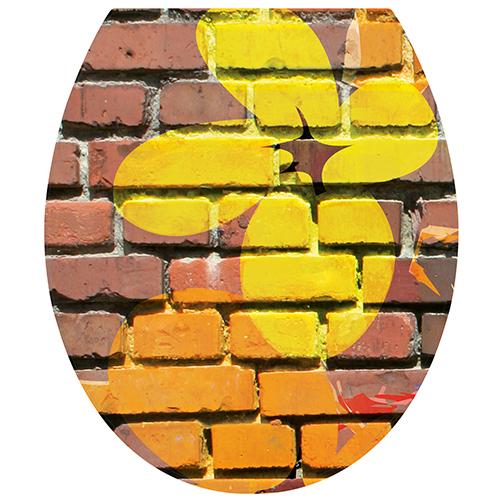 Sticker décoration urbaine grafiti pour abattant de WC