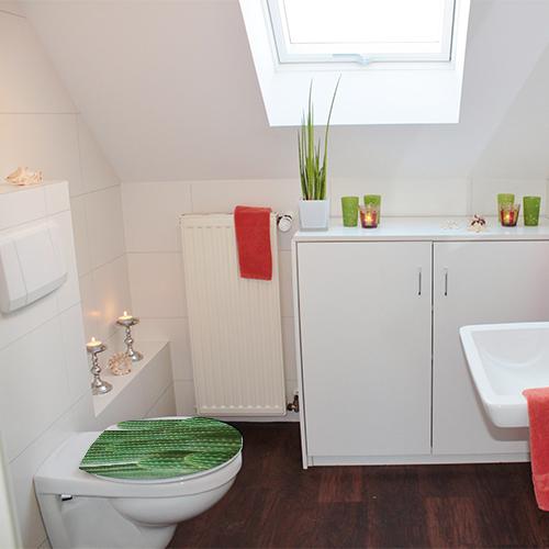 Toilettes basiques ornés de végétation avec le sticker Cactus