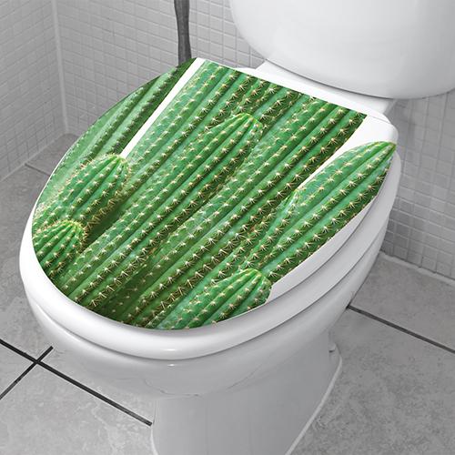 Autocollant décoratif imitation végétation modèle cactus