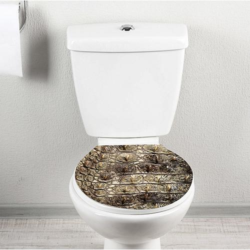 Croco motif horizontal collé sur une cuvette de WC